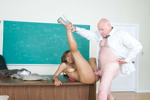 Very hot swarthy student in a pink sexy  - XXX Dessert - Picture 2