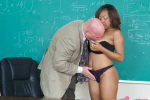 Very hot swarthy student in a pink sexy  - XXX Dessert - Picture 12