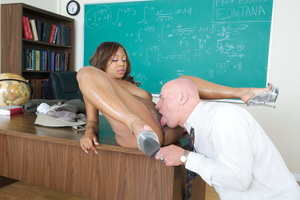 Very hot swarthy student in a pink sexy  - XXX Dessert - Picture 15