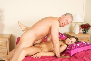 Lustful old fart slides his thick boner  - XXX Dessert - Picture 4