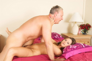 Lustful old fart slides his thick boner  - XXX Dessert - Picture 6