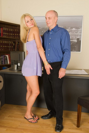 Slutty long-haired blonde bitch jumping  - XXX Dessert - Picture 11