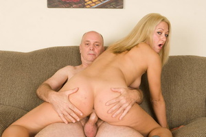 Slutty long-haired blonde bitch jumping  - XXX Dessert - Picture 17