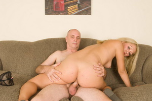 Slutty long-haired blonde bitch jumping  - XXX Dessert - Picture 18