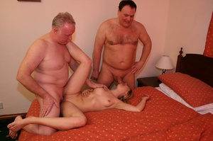Two old farts shaving blonde pigtailed g - XXX Dessert - Picture 5