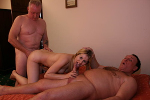 Two old farts shaving blonde pigtailed g - XXX Dessert - Picture 15