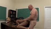bald college professor loves