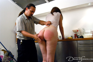 Ponytailed dude spanking a red chick wit - XXX Dessert - Picture 4