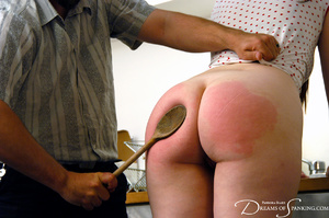 Ponytailed dude spanking a red chick wit - XXX Dessert - Picture 7