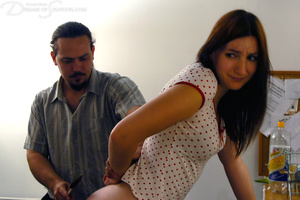 Ponytailed dude spanking a red chick wit - XXX Dessert - Picture 8