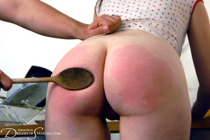 Ponytailed dude spanking a red chick wit - XXX Dessert - Picture 13