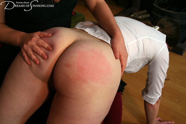 College girl spanked