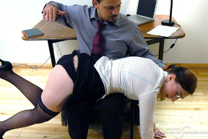 Hot secretary in glasses and stockings g - XXX Dessert - Picture 17