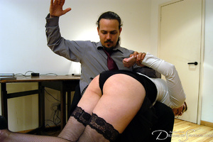 Hot secretary in glasses and stockings g - XXX Dessert - Picture 18
