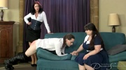 two nasty chicks spanking