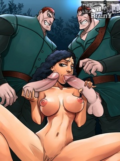 Dirty bitch in a crown gets her toon pooper - Cartoon Sex - Picture 3