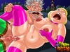 Red man rimming hard old bitch's asshole in a cool toon porn bdsm parody