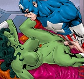 Gorgeous babes from the Avengers enjoy getting all their love holes slammed