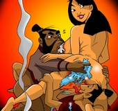 Dirty bitch Mulan gets her asshole fingered and then slammed badly