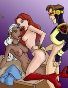 Horny X-Men love fucking their slutty superhero hos
