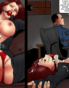 Kinky bdsm art story with blonde and brunette chicks tied upt to each