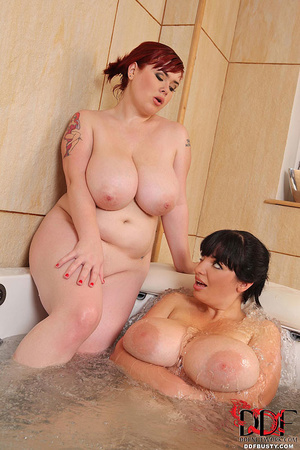 Two chubby babe with mega tits taking ho - XXX Dessert - Picture 14