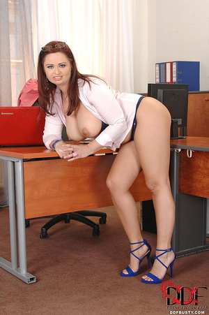 Chubby ginger secretary with huge tittie - XXX Dessert - Picture 9