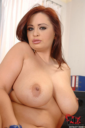 Chubby ginger secretary with huge tittie - XXX Dessert - Picture 14