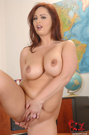 Chubby ginger secretary with huge tittie - XXX Dessert - Picture 15
