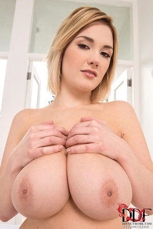 Busty blonde bitch in a nice pink linger - XXX Dessert - Picture 6