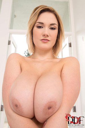 Busty blonde bitch in a nice pink linger - XXX Dessert - Picture 7