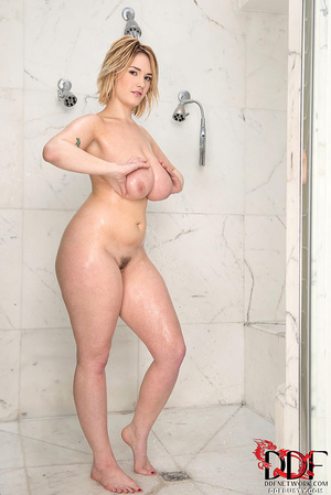 Busty blonde bitch in a nice pink linger - XXX Dessert - Picture 11