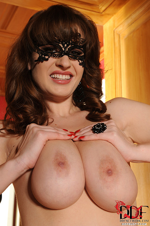 Stacked brunette milf in a black lace ma - XXX Dessert - Picture 15