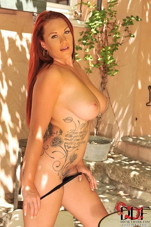 Tattooed ginger milf can hold a full bot - XXX Dessert - Picture 9
