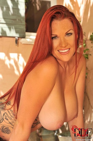 Tattooed ginger milf can hold a full bot - XXX Dessert - Picture 12