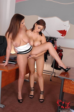 Two stacked hot lezzies love licking eac - XXX Dessert - Picture 10