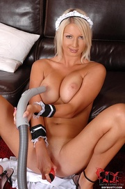 nasty blonde room maid