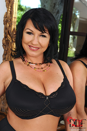 Hot brunette mature in a black lingerie  - XXX Dessert - Picture 2