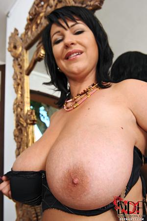 Hot brunette mature in a black lingerie  - XXX Dessert - Picture 6