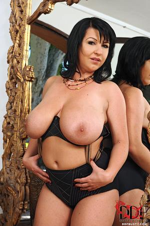 Hot brunette mature in a black lingerie  - XXX Dessert - Picture 7