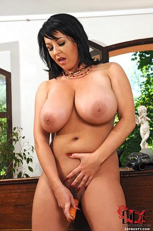 Hot brunette mature in a black lingerie  - XXX Dessert - Picture 15