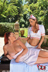 Hot role play with busty nurse pleasing her red ponytailed patient's huge