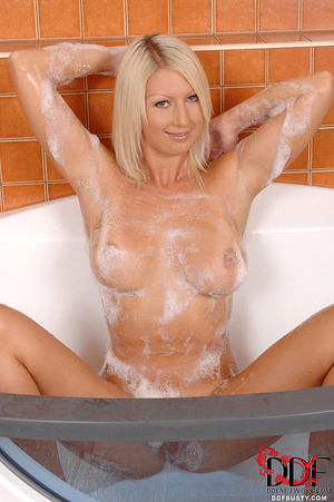 Busty blonde babe with big juggs rubbing - XXX Dessert - Picture 12