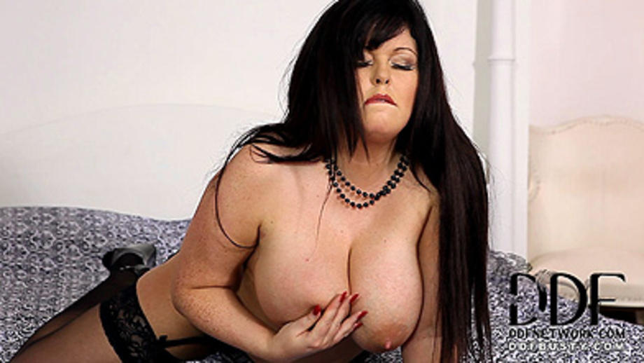 Hot Porn Clips With Chubby Brunette Mom In A Sexy Lingerie And Stockings Exposing Her Mega Tits Before Masturbation