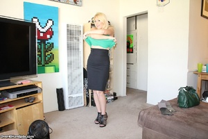 Lustful blonde mom with awesome natural  - XXX Dessert - Picture 2