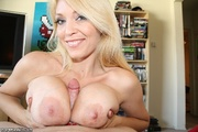 lustful blonde mom with