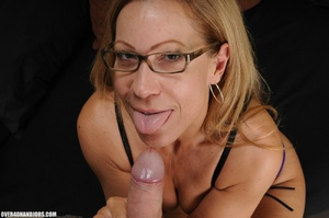 Dirty blonde milf in lingerie gets mouth - XXX Dessert - Picture 7