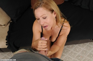 Dirty blonde milf in lingerie gets mouth - XXX Dessert - Picture 8