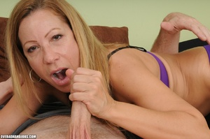 Dirty blonde milf in lingerie gets mouth - XXX Dessert - Picture 9