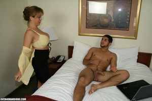 Busty blonde milf rubbing a thick boner  - XXX Dessert - Picture 6